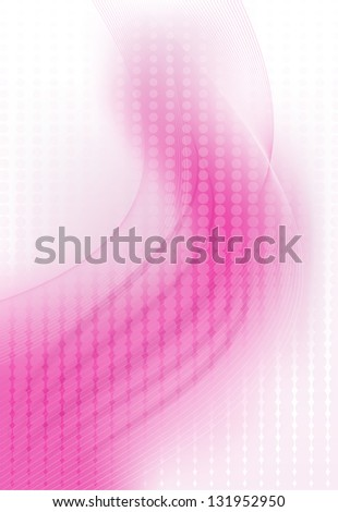 Pink Waves - stock vector