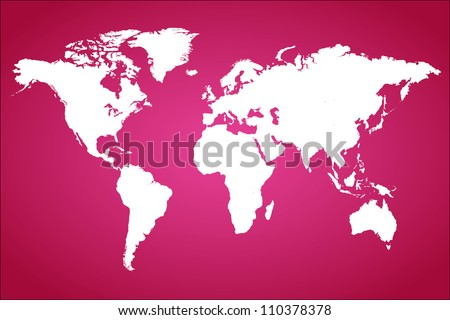Pink World Map Vector Illustration - stock vector