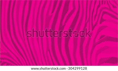 Pink zebra stripes pattern, illustration - stock vector