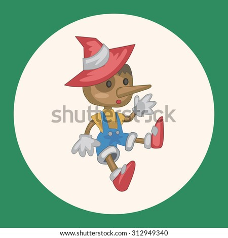 pinocchio hat template - pinocchio vector stock images royalty free images