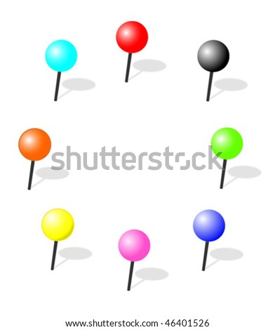Pins - stock vector