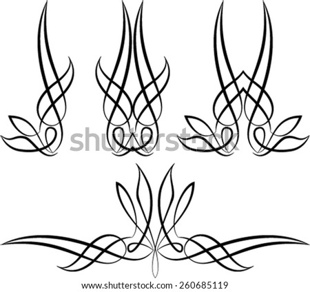 pinstripe graphics vinyl ready vector art stock vector 260685119 rh shutterstock com pinstripe vector graphics pinstripe vector download
