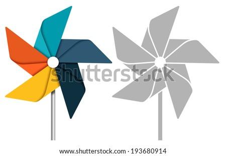 Pinwheel concept illustration - stock vector