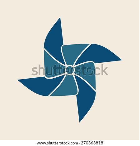 PINWHEEL illustration vector - stock vector