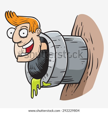 pipe man - stock vector