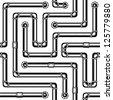 Pipe maze. Monochrome. Seamless vector texture. - stock photo