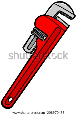 Pipe Wrench  - stock vector