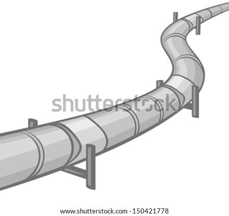 pipeline - stock vector
