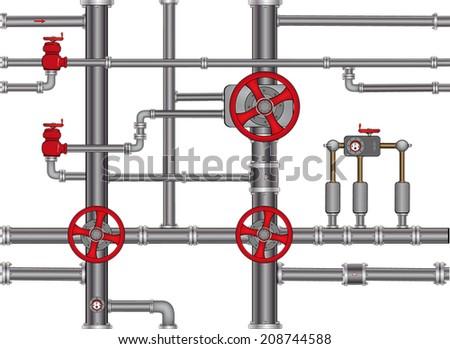 pipeline seamless background  - stock vector