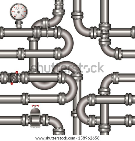 pipeline seamless pattern - stock vector