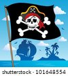 Pirate banner theme 2 - vector illustration. - stock vector