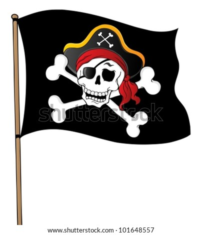 Pirate banner theme 1 - vector illustration.