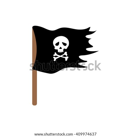Pirate flag. Illustration for design on white background