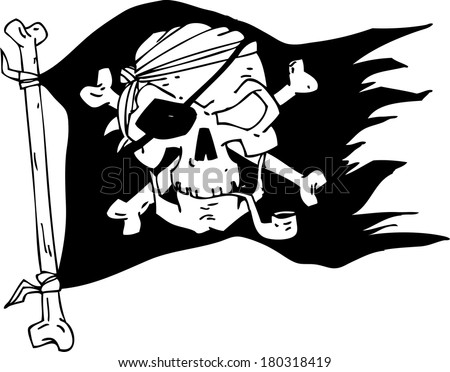 pirate flag skull stock photo photo vector illustration rh shutterstock com pirate flag clip art black and white pirate flag clip art free
