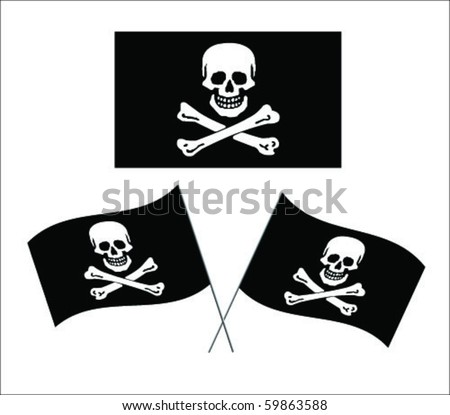 pirate flag vector