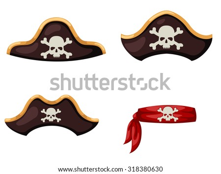 pirate hat vector - stock vector