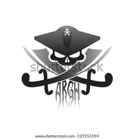 Pirate icon - stock vector