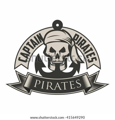 Pirate Logo Template Stock Vector (2018) 415649290 - Shutterstock
