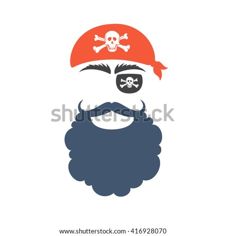 Pirate face vector - photo#22