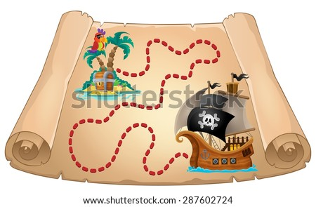 Pirate scroll theme image 1 - eps10 vector illustration. - stock vector