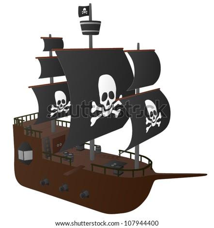 Pirate Ship - stock vector