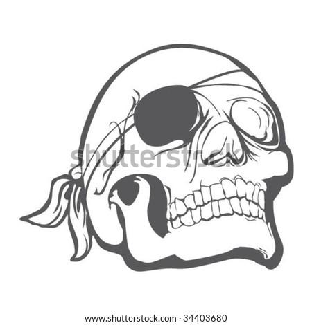 Pirate Skull - stock vector
