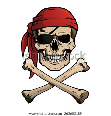 Pirate Skull Crossbones Known Jolly Roger Stock Vector ...
