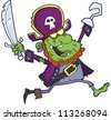Pirate Zombie  With A Sword - stock vector