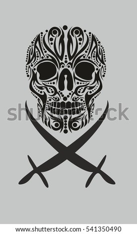 pirates tattoo skull vector art