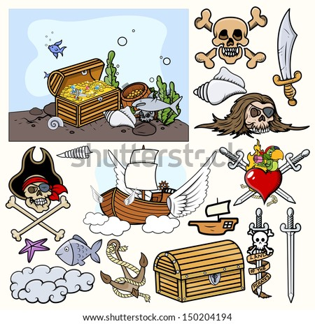Pirates Vector Illustrations