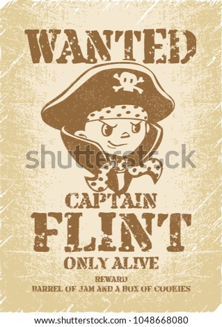 wanted pirate poster template - pirates wanted poster template pirate childrens stock