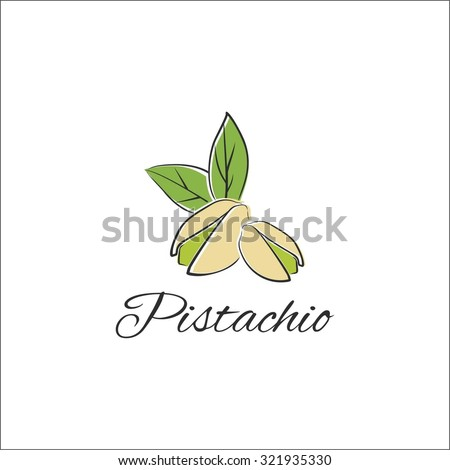 Pistachio - stock vector