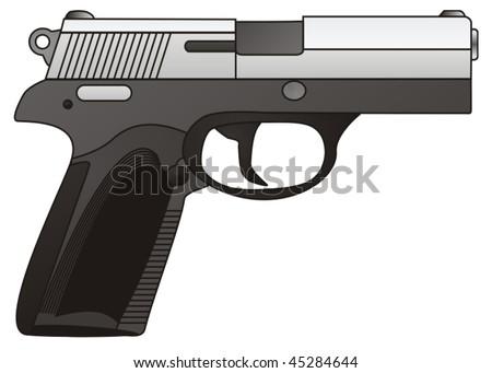 Pistol. - stock vector