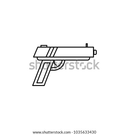Pistol Icon Element Popular Army Icon Premium Stock Vector 2018