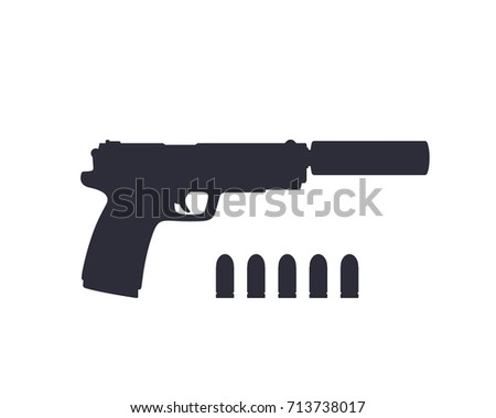 handgun vector stock images royaltyfree images amp vectors
