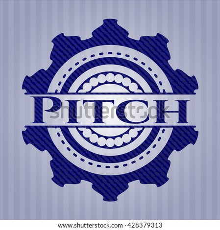 Pitch emblem with jean texture