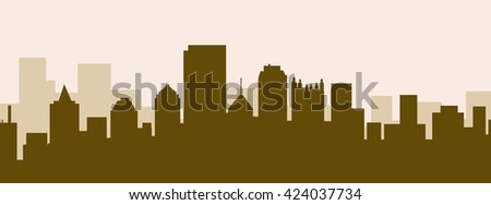 Pittsburgh Early Morning Skyline - vector