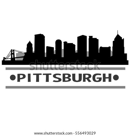 Pittsburgh Skyline Silhouette Clip art - kisspng.com