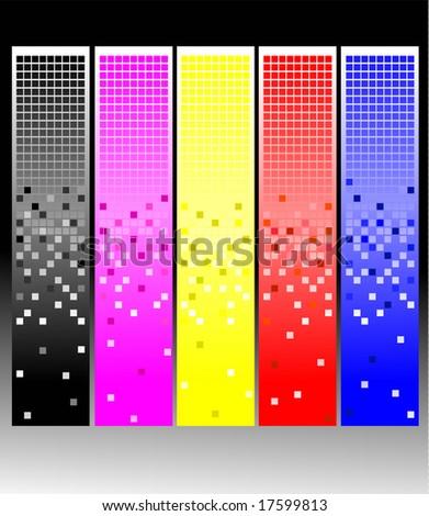 pixel - stock vector