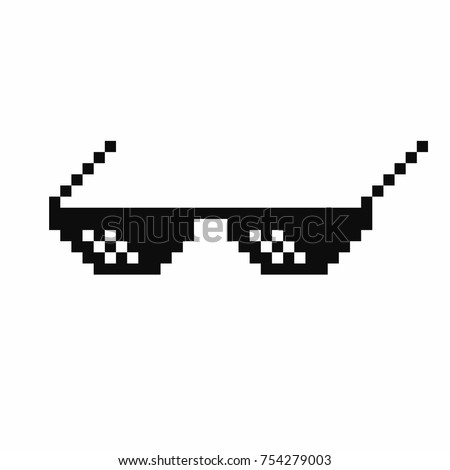 Thug stock images royalty free images vectors shutterstock thug life meme glasses isolated on white background vector voltagebd Images