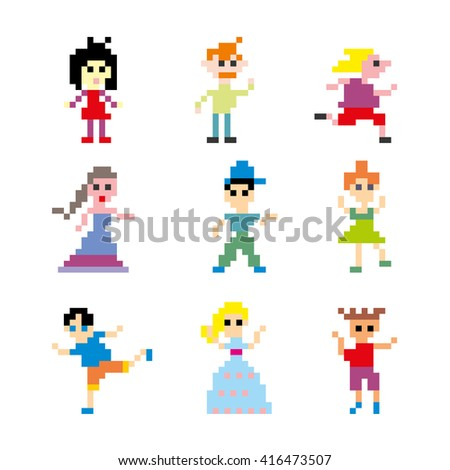 Pixel art people