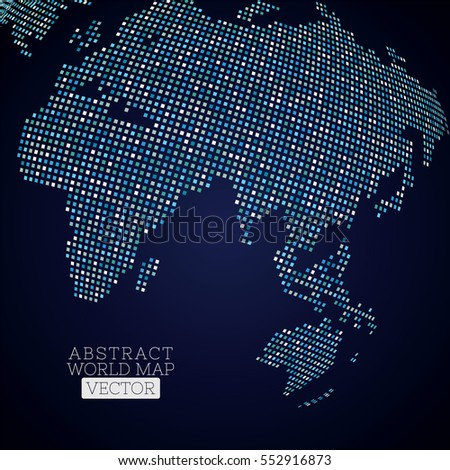 Pixel dot world map made blue stock vector 552916873 shutterstock pixel dot world map made from blue squares global technology concept gumiabroncs Image collections