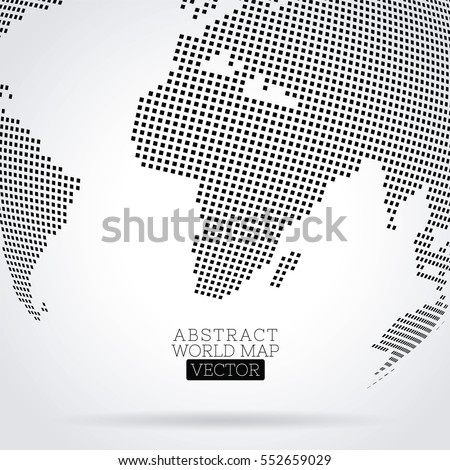 Pixel dot world map made squares stock vector 552659029 shutterstock pixel dot world map made from squares global technology concept gumiabroncs Image collections