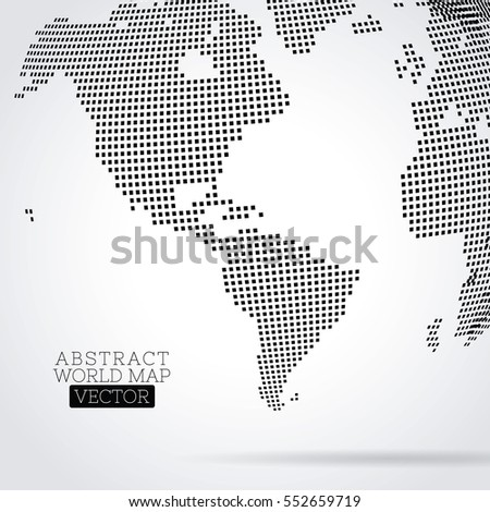 Pixel dot world map made squares stock vector 552659719 shutterstock pixel dot world map made from squares global technology concept gumiabroncs Image collections