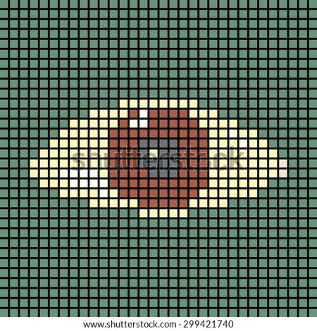 Pixel eye. Abstract Technology background for computer graphic website internet and business. circuit. vector illustration. pixel. mosaic. eye. eye ball. - stock vector
