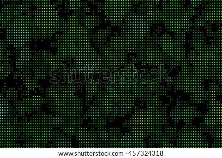 Pixel Green Camouflage - stock vector