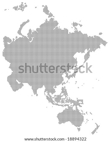 pixel map of asia and australia