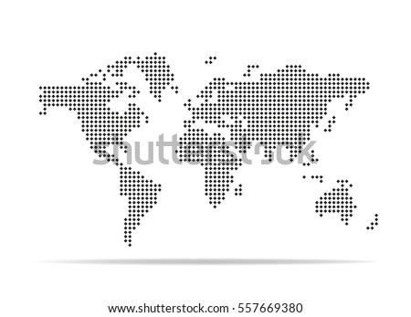Pixel map world dotted world map stock vector 557669380 shutterstock pixel map of world dotted world map vector illustration gumiabroncs Image collections