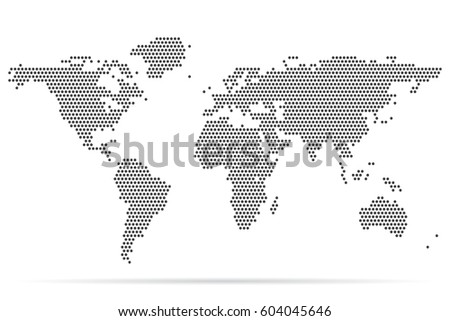 Pixel map world dotted world map stock vector hd royalty free pixel map of world dotted world map vector illustration gumiabroncs Gallery