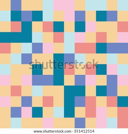 pixel mosaic pattern seamless - stock vector
